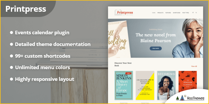 Printpress - Book Publishing WordPress Theme