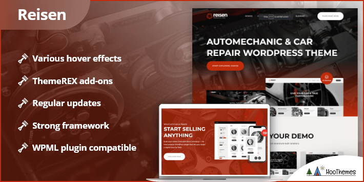 Reisen Automechanic Auto Body Repair Car WordPress Theme