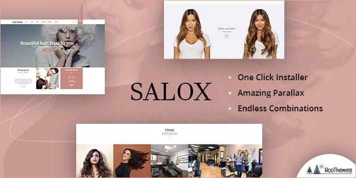 Salox - Hair Salon WordPress Theme