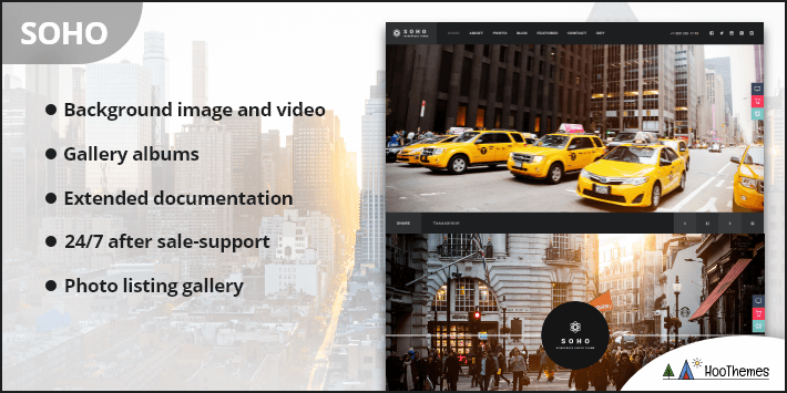 SOHO Photography Black White WordPress Theme