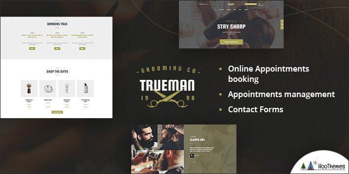 Trueman - Hairdresser & Shaving Barbershop WordPress Theme