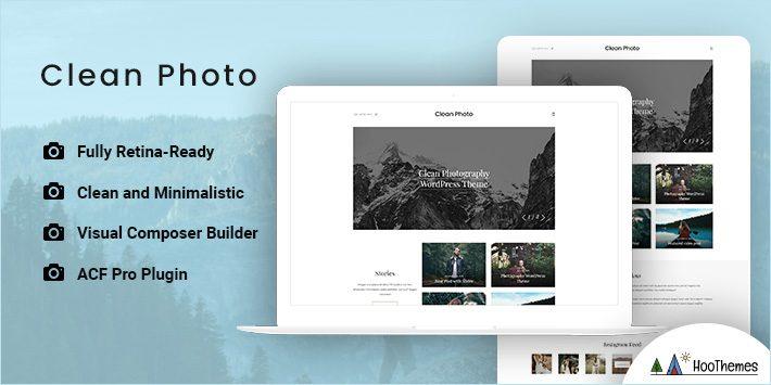 Clean Photo - Photography Portfolio WordPress Theme