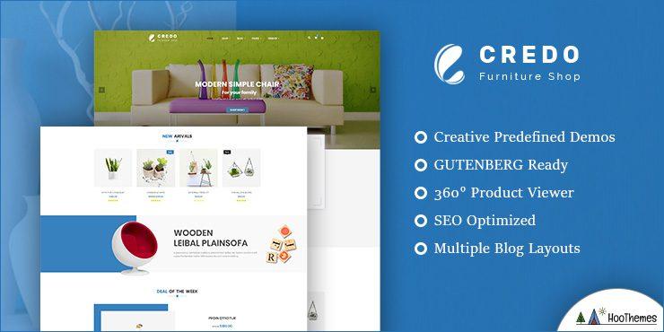 Credo - Handmade Furniture WooCommerce WordPress Theme