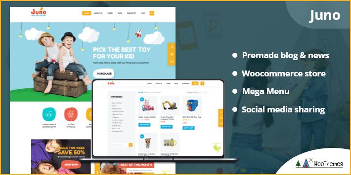 Juno - Kids Toys & Games Store WordPress Theme
