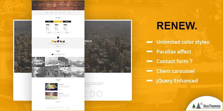 RENEW – Creative One Page WordPress Theme