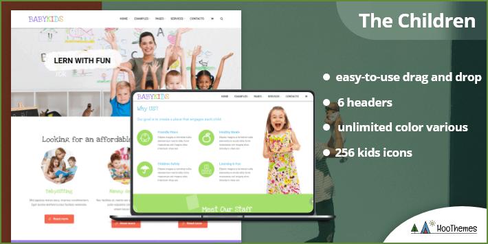 The Children - Kindergarten and Babysitter WordPress Theme