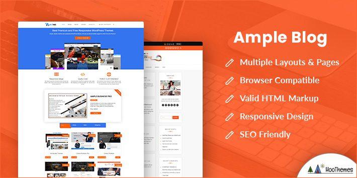 Ample Blog Free WordPress Theme for Author