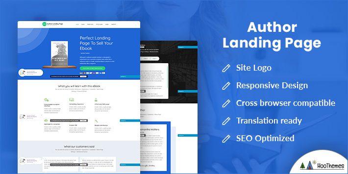 Author Landing Page Free WordPress Theme