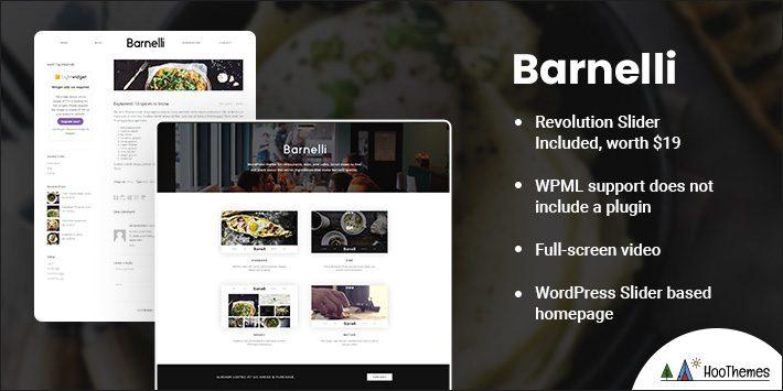 MBarnelli - Restaurant Responsive WordPress Theme