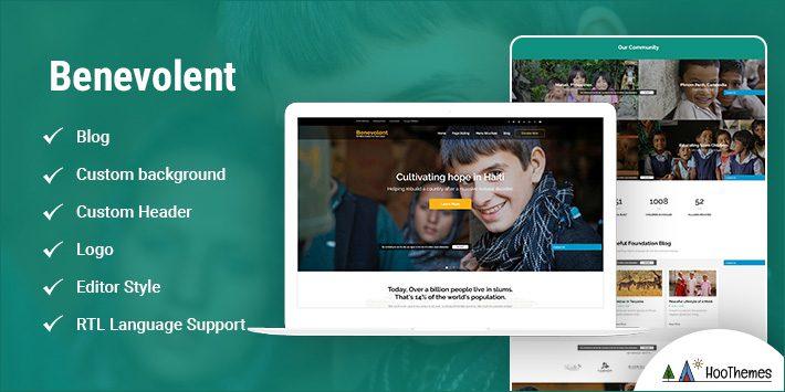 Benevolent WordPress Themes for Nonprofits