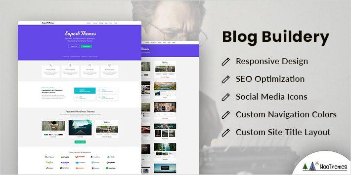Blog Builderly Free WordPress Theme for Author