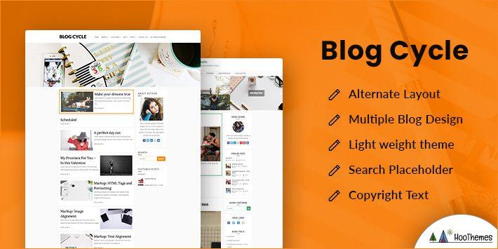 Blog Cycle Free WordPress Theme for Author