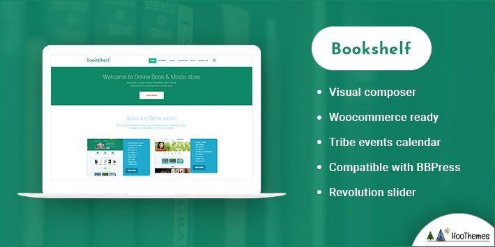 Bookshelf - Books & Media Online Store WordPress Theme