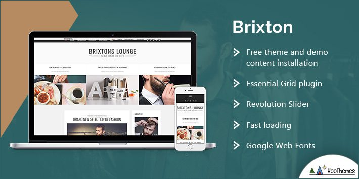 Brixton - A Responsive WordPress Blog Theme