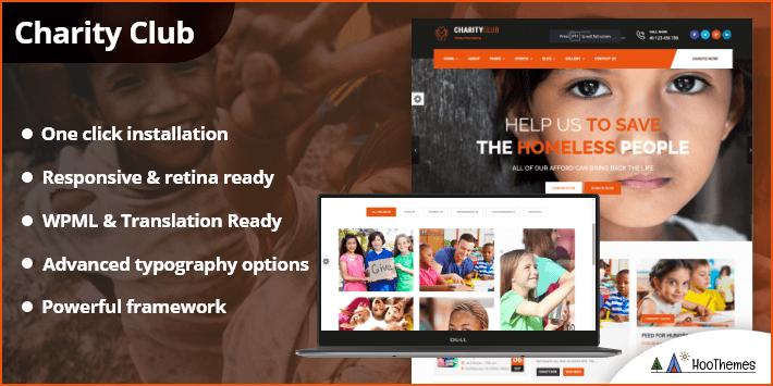 Charity Club - Fundraising WordPress Theme