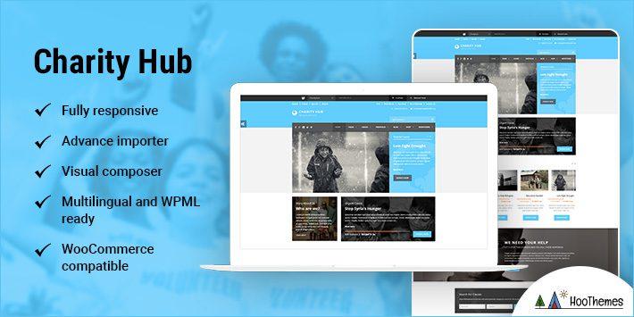 Charity Hub - Nonprofit / Fundraising WordPress Theme