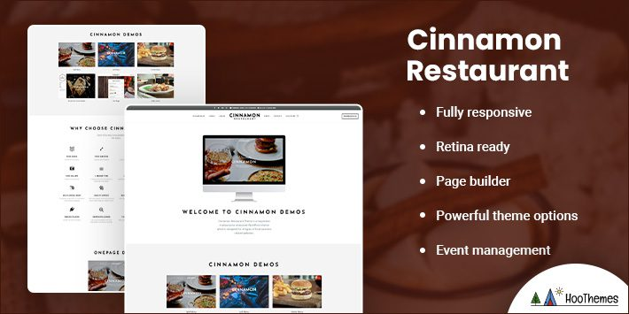 Cinnamon Restaurant Theme for WordPress