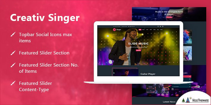 Creativ Singer WordPress Themes for Artists