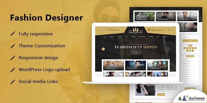 Fashion Designer WordPress Themes for Artists