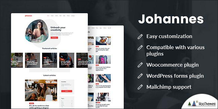Johannes Personal Blog Theme for WordPress