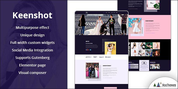 Keenshot Free WordPress Themes for Photographers