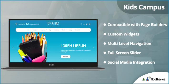Kids Campus WordPress Themes for Clubs and Organizations