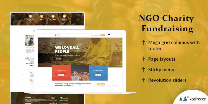 NGO Charity Fundraising Free WordPress Theme