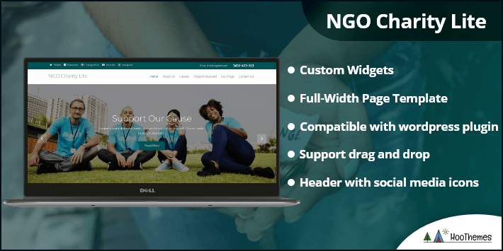 NGO Charity Lite WordPress Themes for Clubs and Organizations