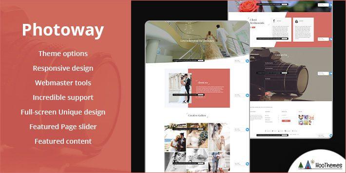 Photoway Free WordPress Themes for Photographers