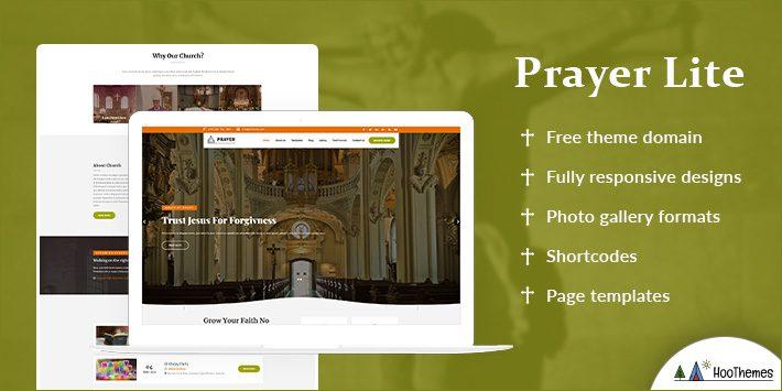 Prayer Lite Free WordPress Themes for Churches