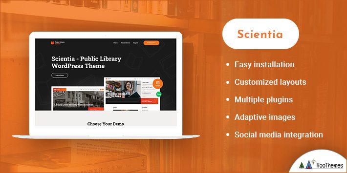 Scientia - Public Library & Book Store Education WordPress Theme