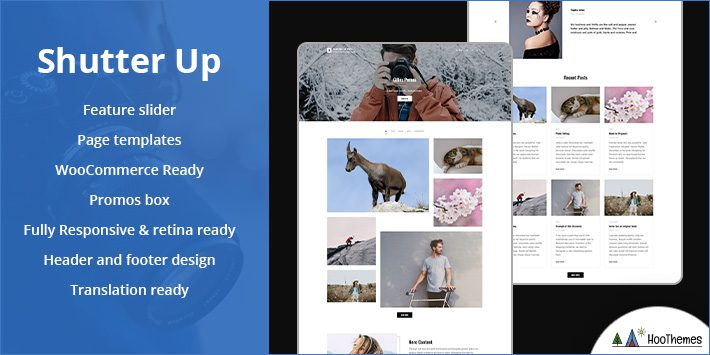 Shutter Up Free WordPress Themes for Photographers
