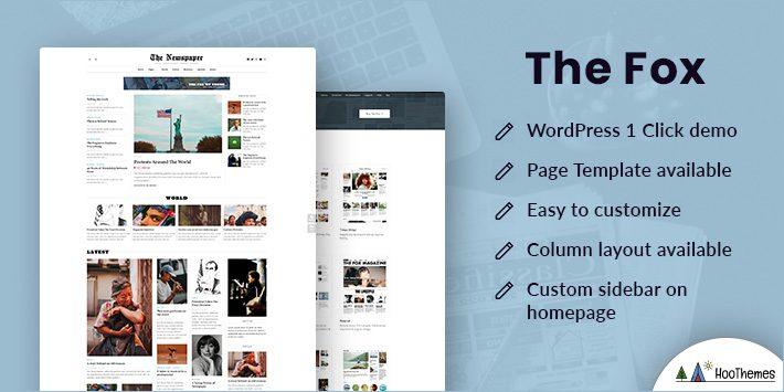 The Fox - Modern Blog Magazine Theme