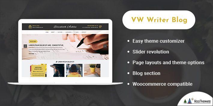 VW Writer Blog WordPress Themes for Selling Books