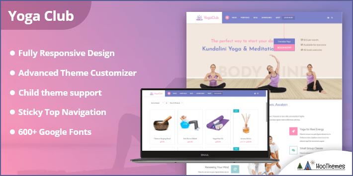 Yoga Club - Fitness and Lifestyle WordPress Theme