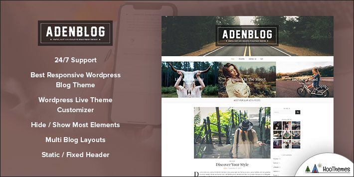 Aden - WordPress Blog Theme for Bloggers