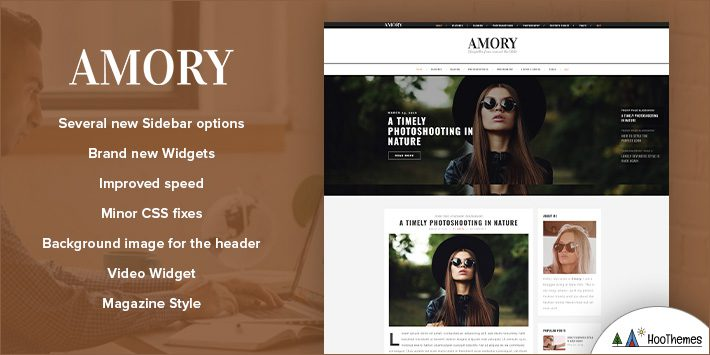 Amory - A Responsive WordPress Blog Theme for Blogging