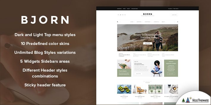 Bjorn - Responsive WordPress Blog Theme for Bloggers
