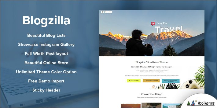 Blogzilla - WordPress Blog Theme for Blogging