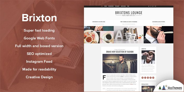 Brixton - A Responsive WordPress Blog Theme for Blogging
