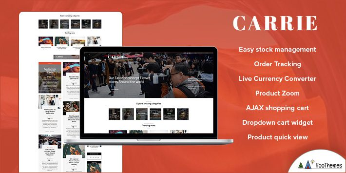 Carrie - Personal & Magazine WordPress Themes for Beginners