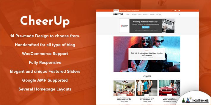 CheerUp - Food WordPress Blog Theme for Bloggers