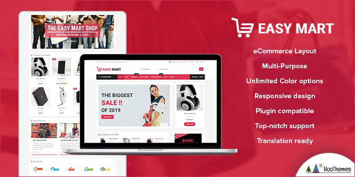 Easy Mart Free WordPress Themes for Beginners
