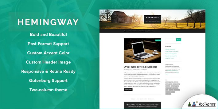 Hemingway Free WordPress Blog Theme for Bloggers