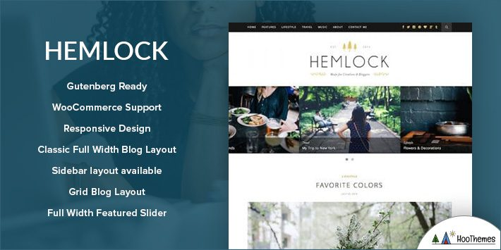 Hemlock - Responsive WordPress Blog Theme for Blogging