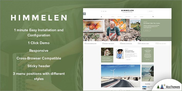 Himmelen - Personal Minimal WordPress Blog Theme for Blogging