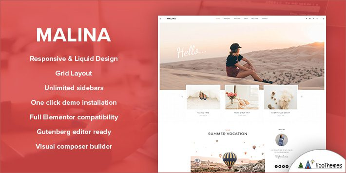 Malina - Personal Blog WP Theme for Bloggers