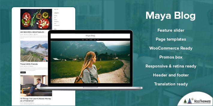 Maya Blog WordPress Themes for Beginners