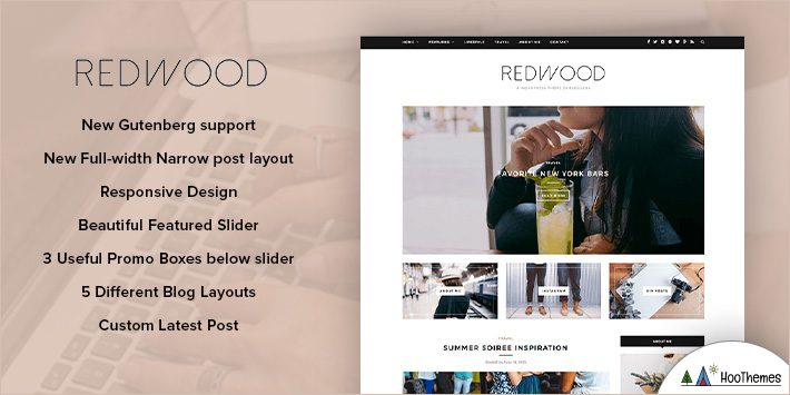 Redwood - Responsive WordPress Blog Theme for Blogging