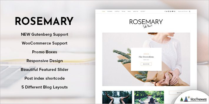 Rosemary - A Responsive WordPress Blog Theme for Blogging